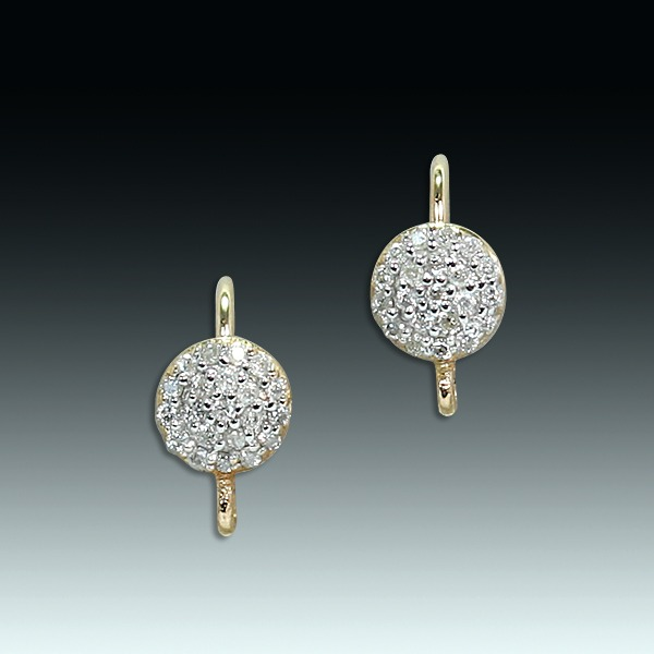 "1bbcac6c82f865 ""Small, shining world"" opalescent diamond and 18k gold earrings"
